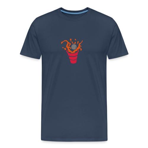 beer pong verre eclaboussure1 - T-shirt Premium Homme