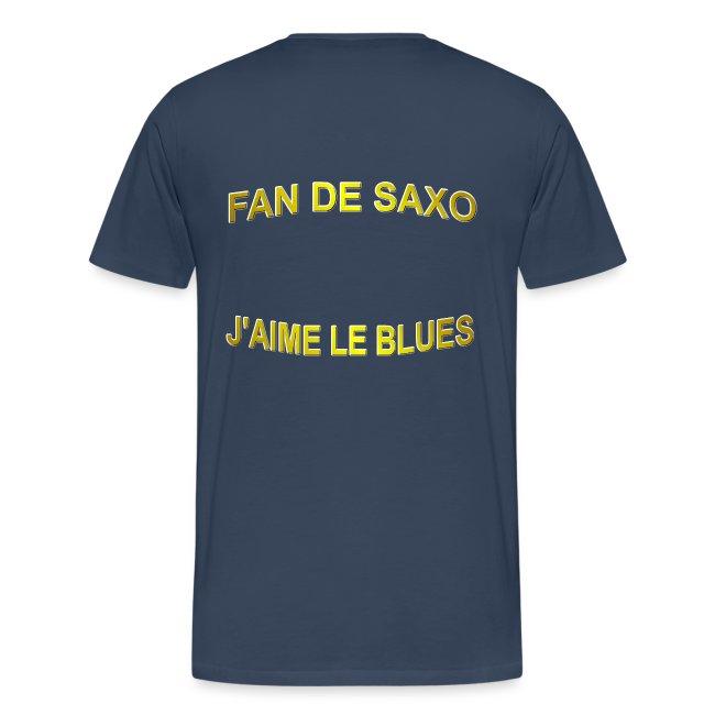 Tee-Shirt pour les fans de blues, et de saxo.