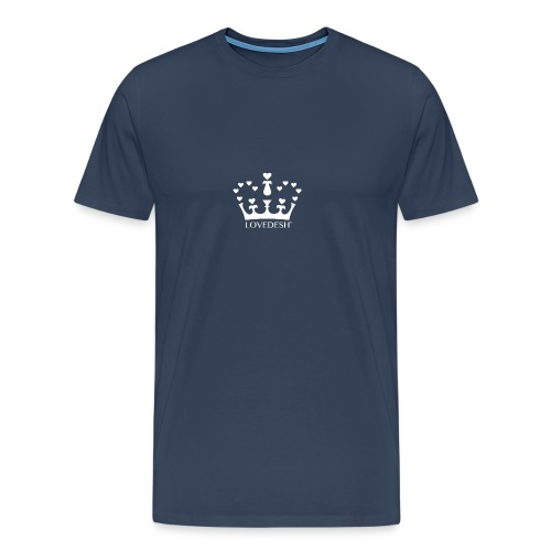 White Lovedesh Crown, Ethical Luxury - With Heart - Men's Premium T-Shirt