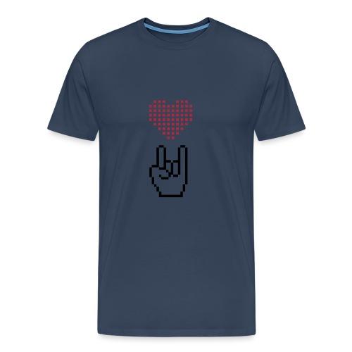Pixel Love Rock - Männer Premium T-Shirt