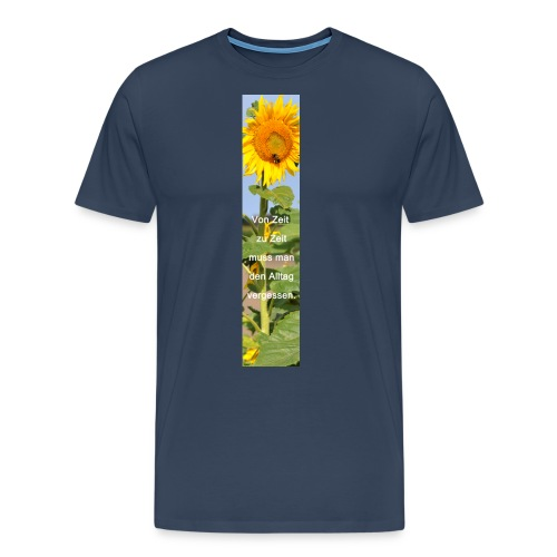 Riesen-Lesezeichen Sonnenblume + Spruch - Männer Premium T-Shirt