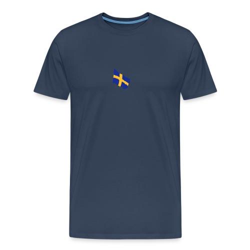 Flagge Schwedenflagge flatternd, Sweden Sverige - Männer Premium T-Shirt