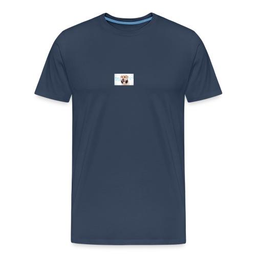 Hond Met Koptelefoon Op Borst - Mannen Premium T-shirt