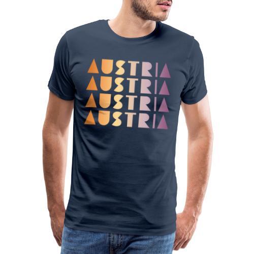 AUSTRIA ÖSTERREICH BUNT MODERN TEXT GESCHENK - Koszulka męska Premium