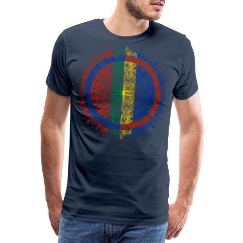 Samisk flagg - Premium T-skjorte for menn