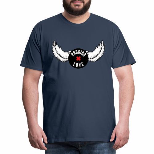 Passion x Love Black and white - Men's Premium T-Shirt