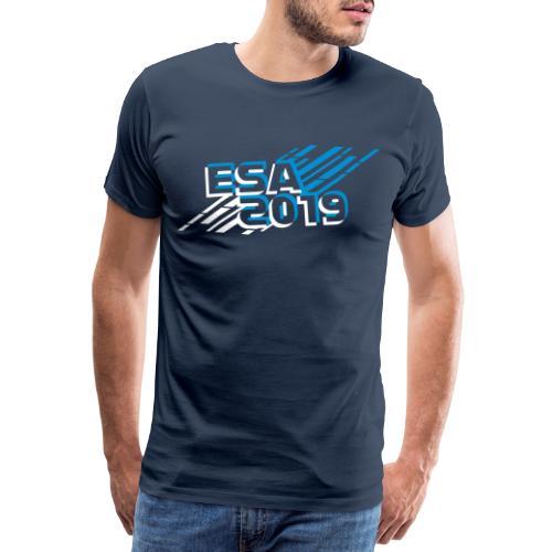 ESA Winter 2019 Icy Blue Logo - Men's Premium T-Shirt