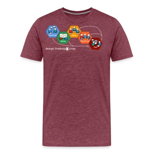 Design Thinking Crisp - Premium-T-shirt herr