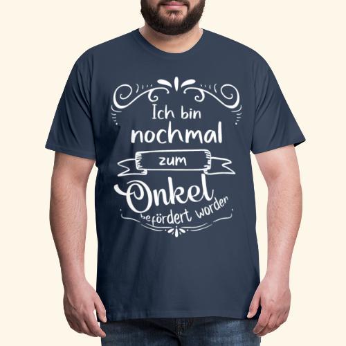 Onkel Beförderung - Bruder Geschenkidee schwanger - Männer Premium T-Shirt