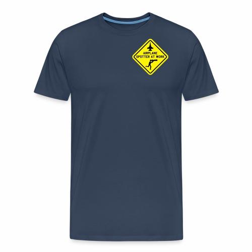 "T-shirt ""mil. airplane spotter at work"". - Mannen Premium T-shirt"