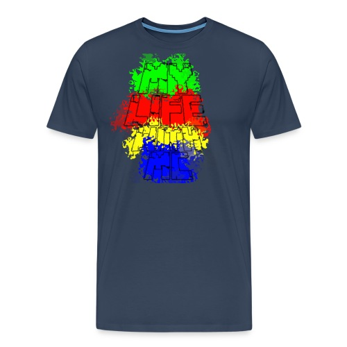 Den Officielle My Life With Minecraft Logo - Herre premium T-shirt