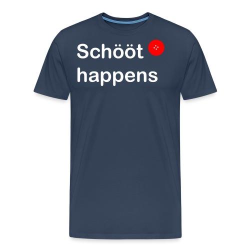Schööt happens weiss - Männer Premium T-Shirt