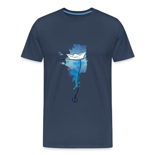 Papierschiff - Männer Premium T-Shirt
