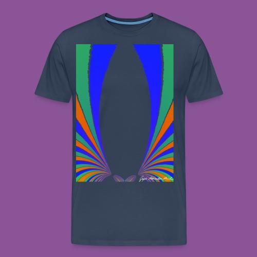 Karo mit Adern 42 1 - Männer Premium T-Shirt