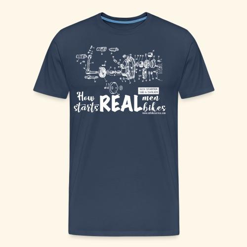 Real men, real bikes - Maglietta Premium da uomo