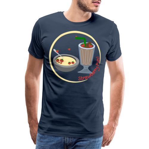 Strawberry Fun - Herre premium T-shirt