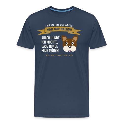 Hauptsache Hundeliebe! - Männer Premium T-Shirt