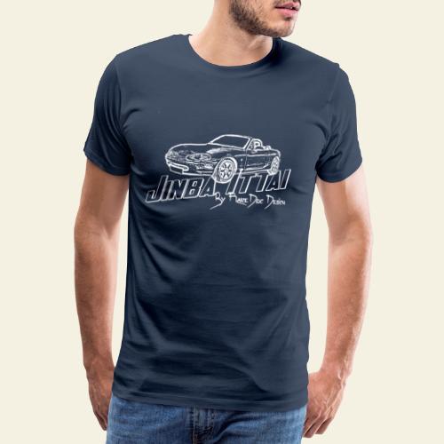 MX 5 NB Jinba Ittai White - Herre premium T-shirt