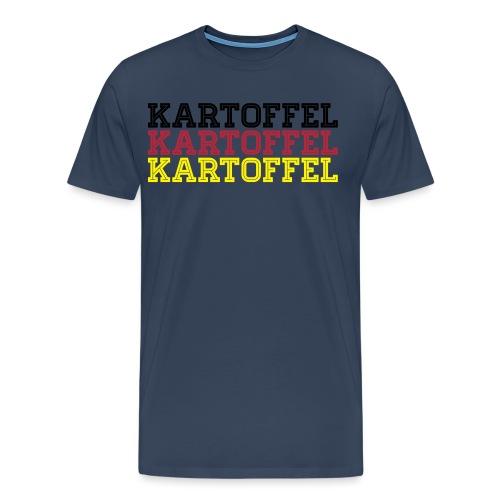 Deutschland Fußball Sport Fan Kartoffel - Männer Premium T-Shirt