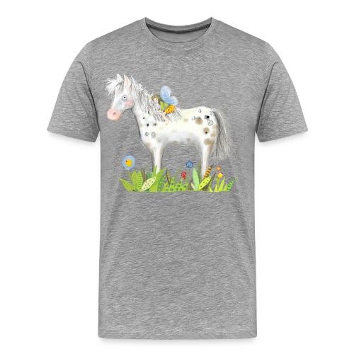 Fee. Das Pferd und die kleine Reiterin. - Männer Premium T-Shirt