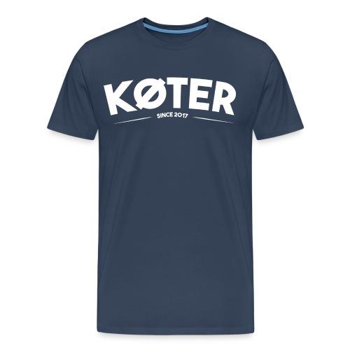 plyed logo koter withe - Männer Premium T-Shirt
