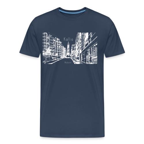 Kallio Helsinki Naisten V-kaula-aukkoinen T-paita - Miesten premium t-paita