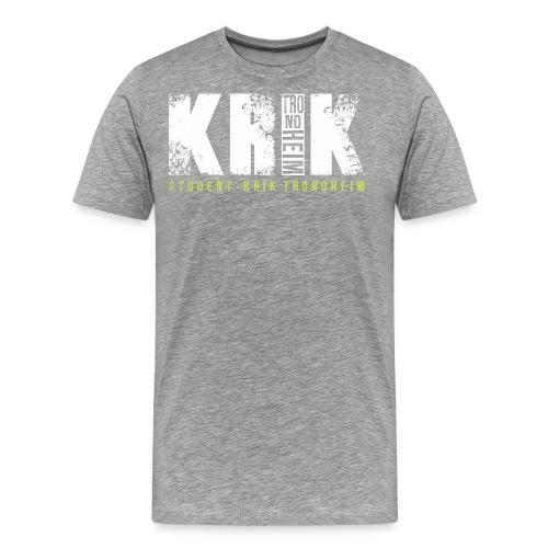 Logo hvit - Premium T-skjorte for menn