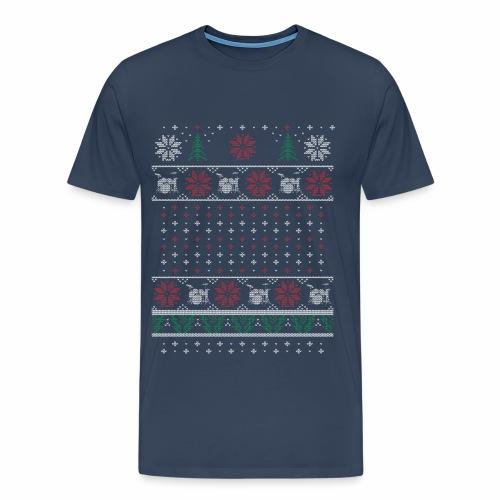 Ugly Xmas Drummer - Men's Premium T-Shirt