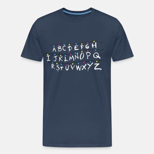 Stranger Things Alphabet - Men's Premium T-Shirt