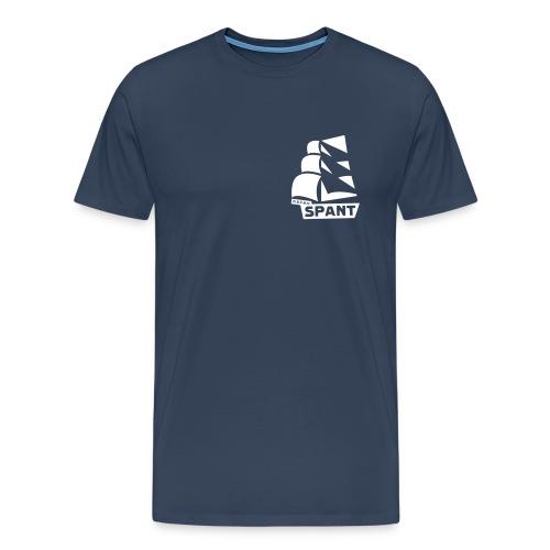 SPANT logo zwart - Mannen Premium T-shirt