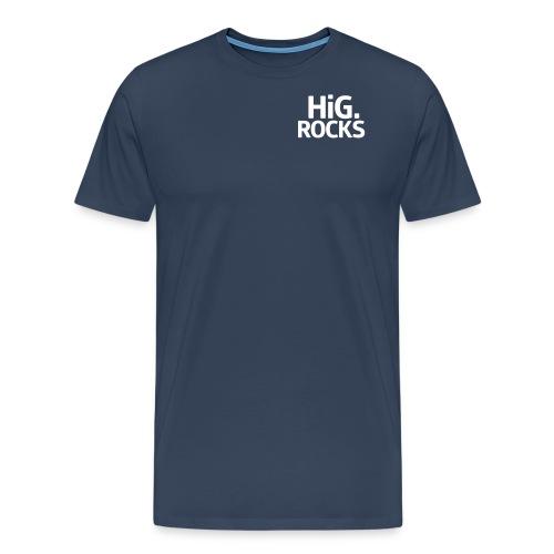 hig rocks Schriftzug - Männer Premium T-Shirt
