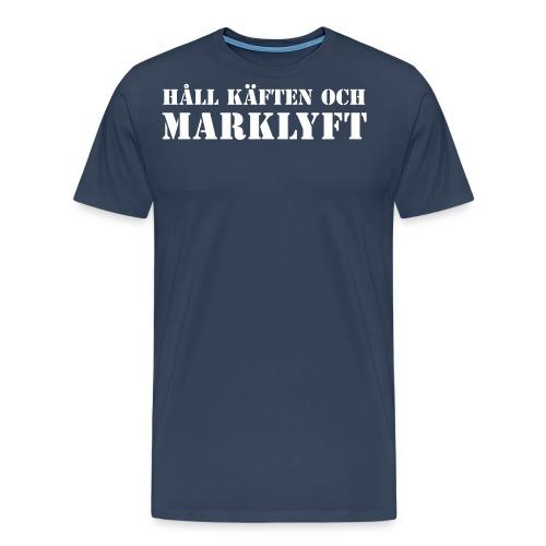 Håll käften och marklyft - Premium-T-shirt herr
