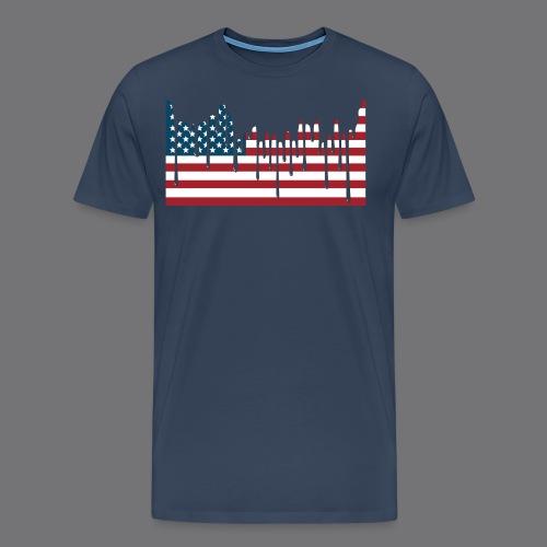 USA FLAG Tee Shirts - Men's Premium T-Shirt