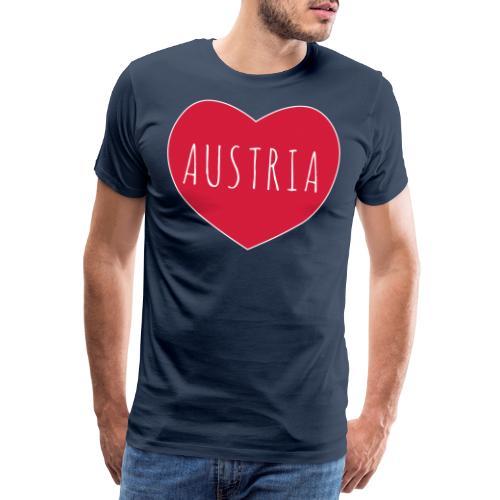 Austria Österreich Liebe Herz Typo Text Geschenk - Koszulka męska Premium