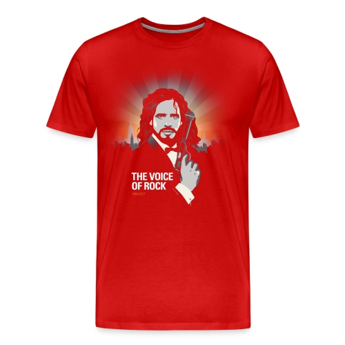The Voice Of Rock - Herre premium T-shirt