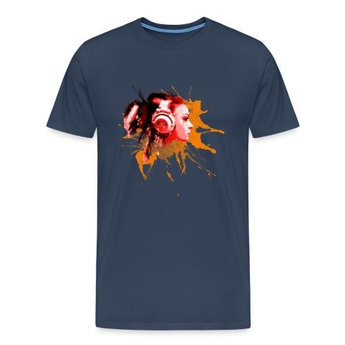 GIRL MIT KOPFHÖRER - Männer Premium T-Shirt