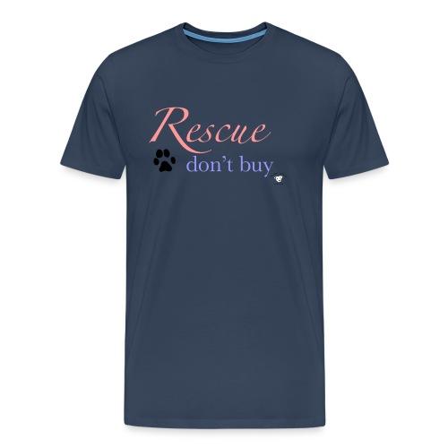 Rescue don't buy - Men's Premium T-Shirt