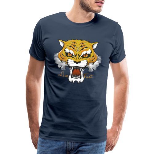 Tiger - Live Fast - Männer Premium T-Shirt