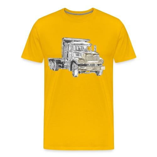 Flatbed Truck 3-axle - Men's Premium T-Shirt