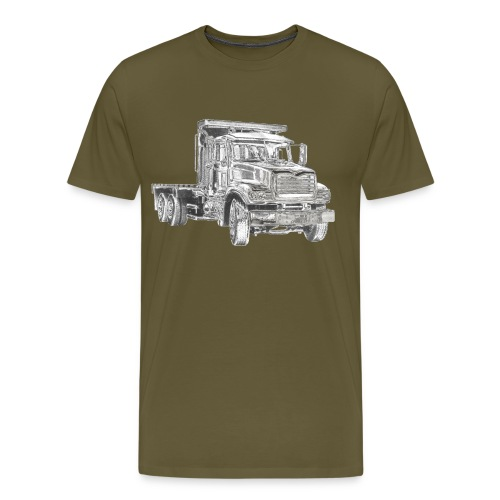 Flatbed Truck 3-axle - Men's Premium T-Shirt