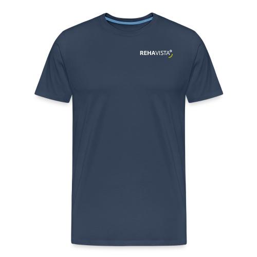 rehavista-logo-weiss-grue - Männer Premium T-Shirt