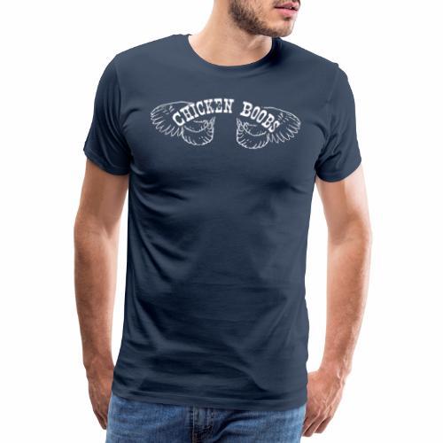 Chicken Boobs White - Mannen Premium T-shirt