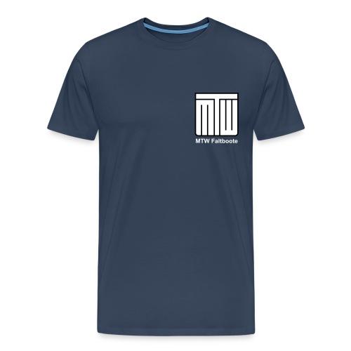 mtw logo weisser text spreadshirt - Männer Premium T-Shirt
