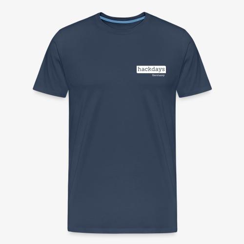 Hackdays - White Logo - Men's Premium T-Shirt