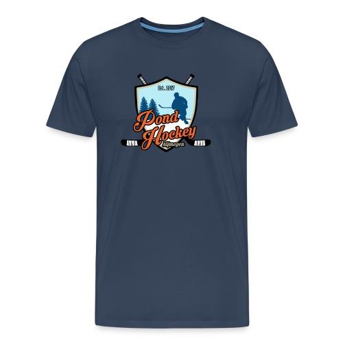 Logo Pondhockey voor hood - Mannen Premium T-shirt