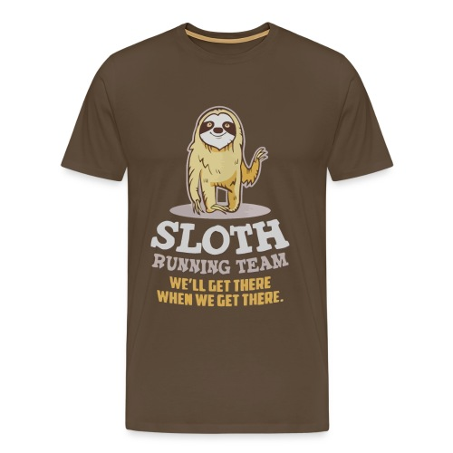 Sloth running team - Men's Premium T-Shirt