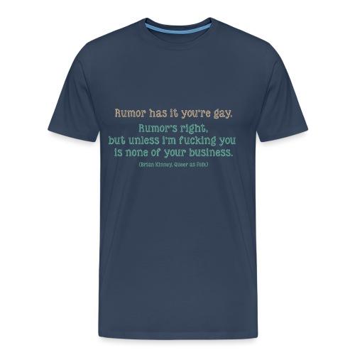 QAF Brian Kinney Rumors - Maglietta Premium da uomo