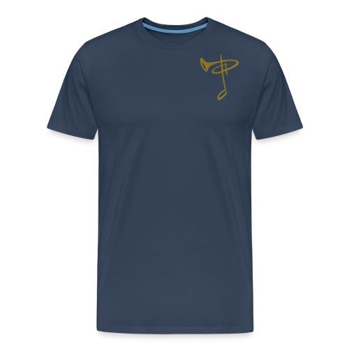 DEPT Logo ohne Text gold - Männer Premium T-Shirt