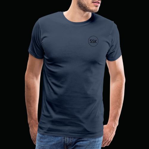 Salangen Skolekantine logo - Premium T-skjorte for menn