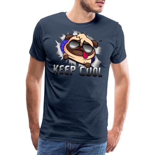 Keep Cool Hund Geschenk - Männer Premium T-Shirt